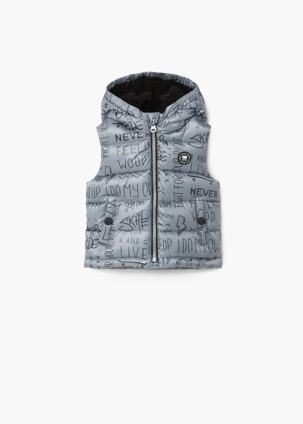 Hooded quilted gilet | MANGO