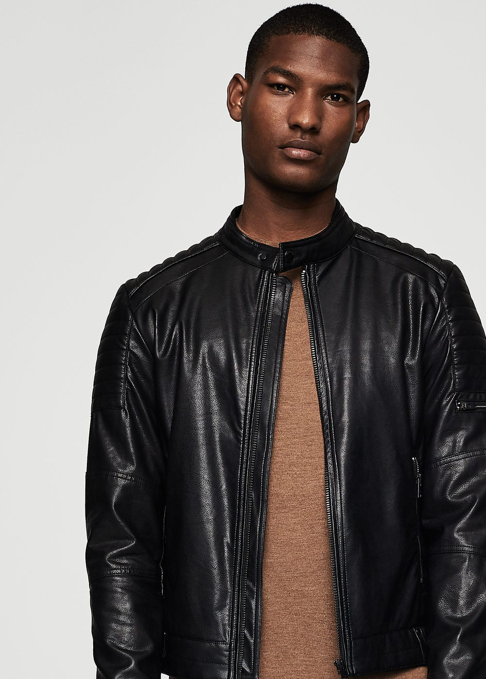 Zipped biker jacket | MANGO MAN