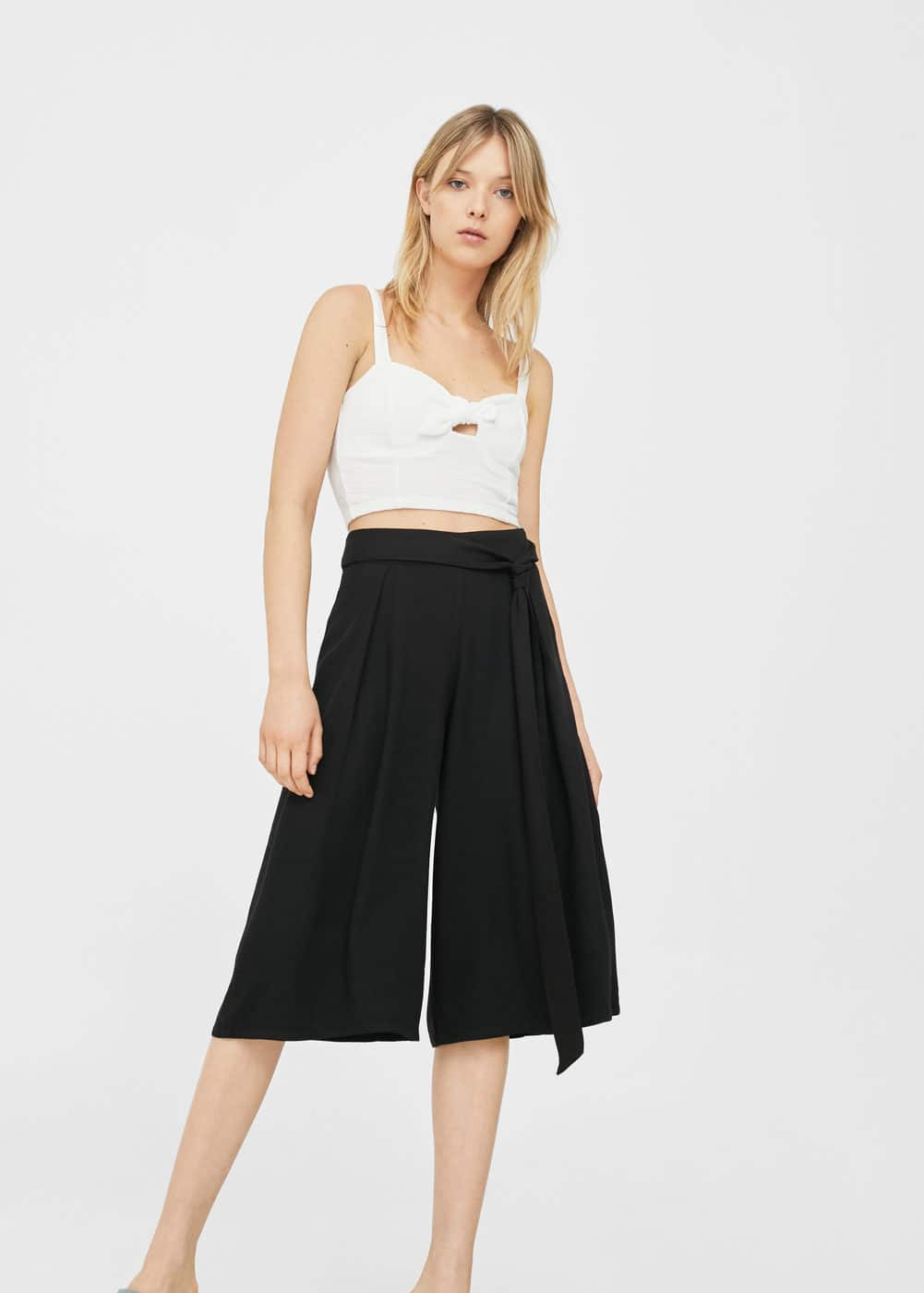 Bow culottes trousers | MANGO