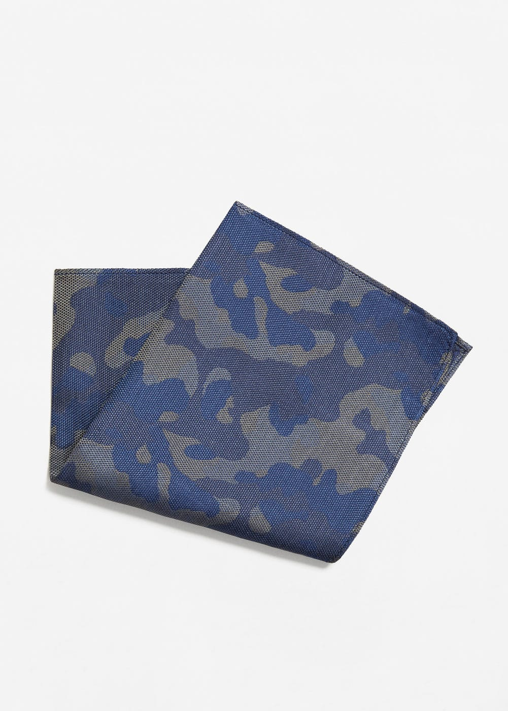 Camouflage silk pocket square | MANGO