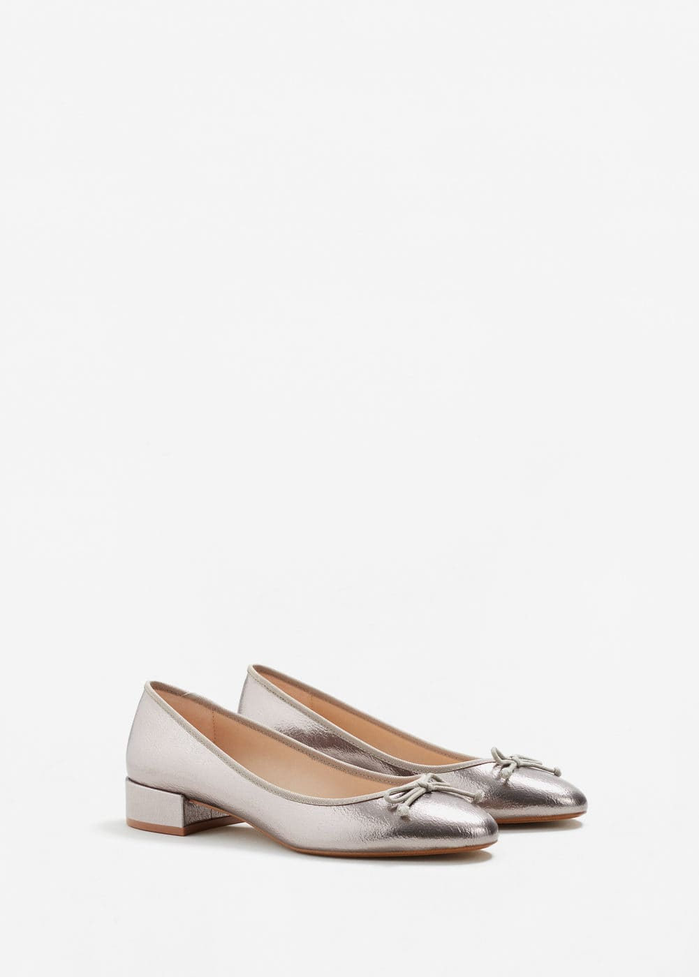 Metallic ballerinas | MANGO