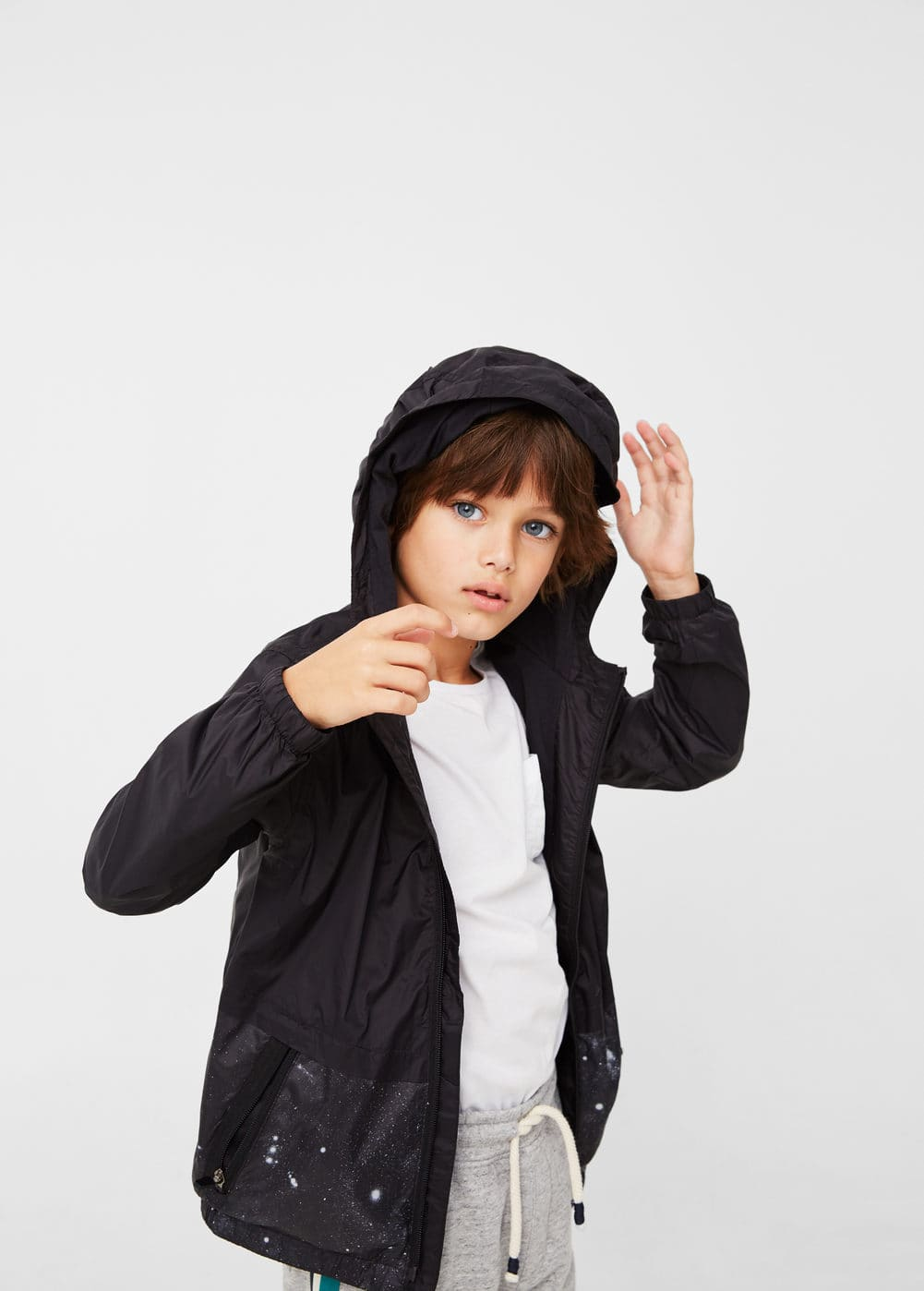 Raincoat hooded jacket | MANGO KIDS