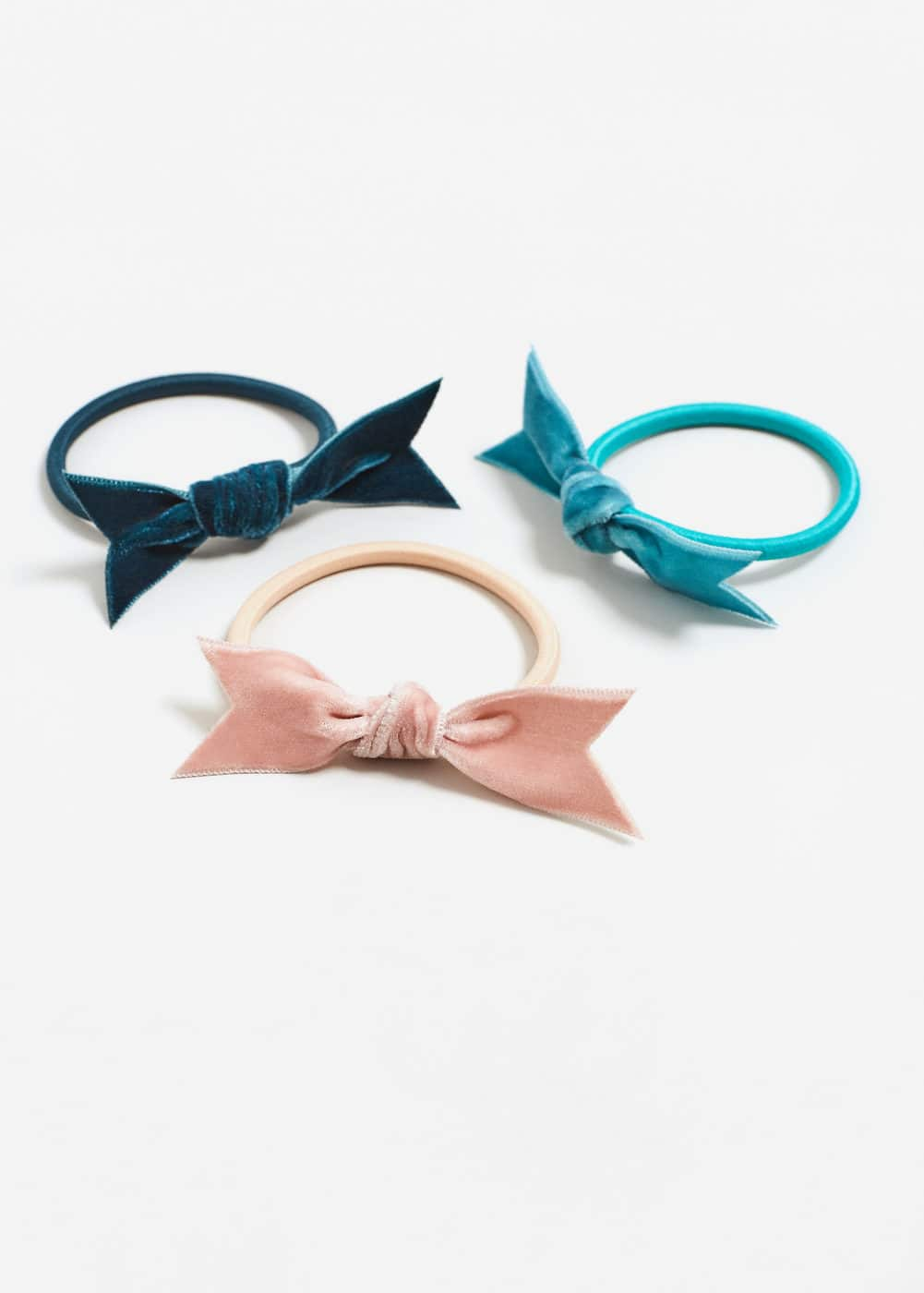 Bow hair tie set | MANGO KIDS