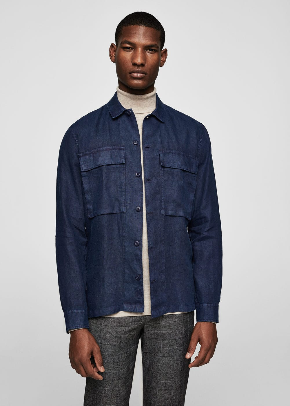 Regular-fit linen shirt | MANGO