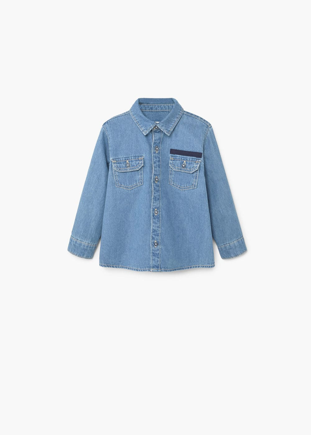 Pocket denim shirt | MANGO