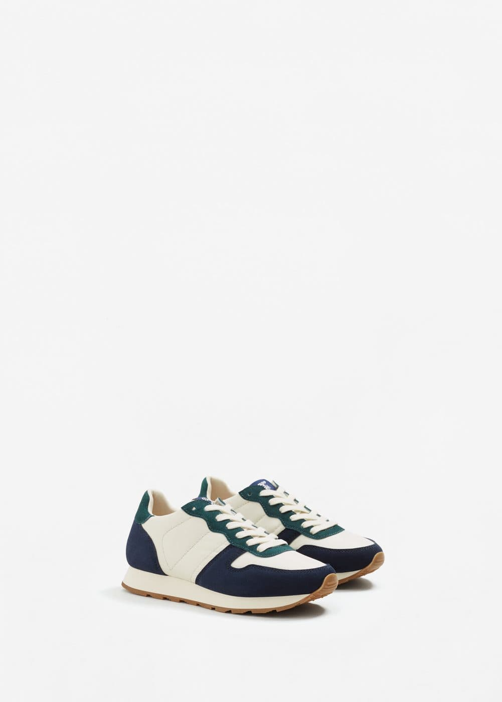 Contrast panel sneakers | MANGO