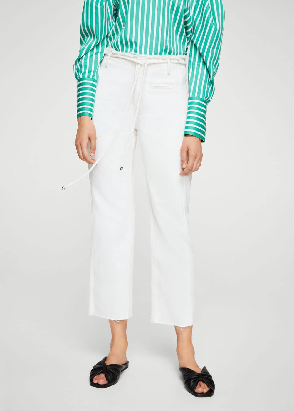 White straight jeans | MANGO