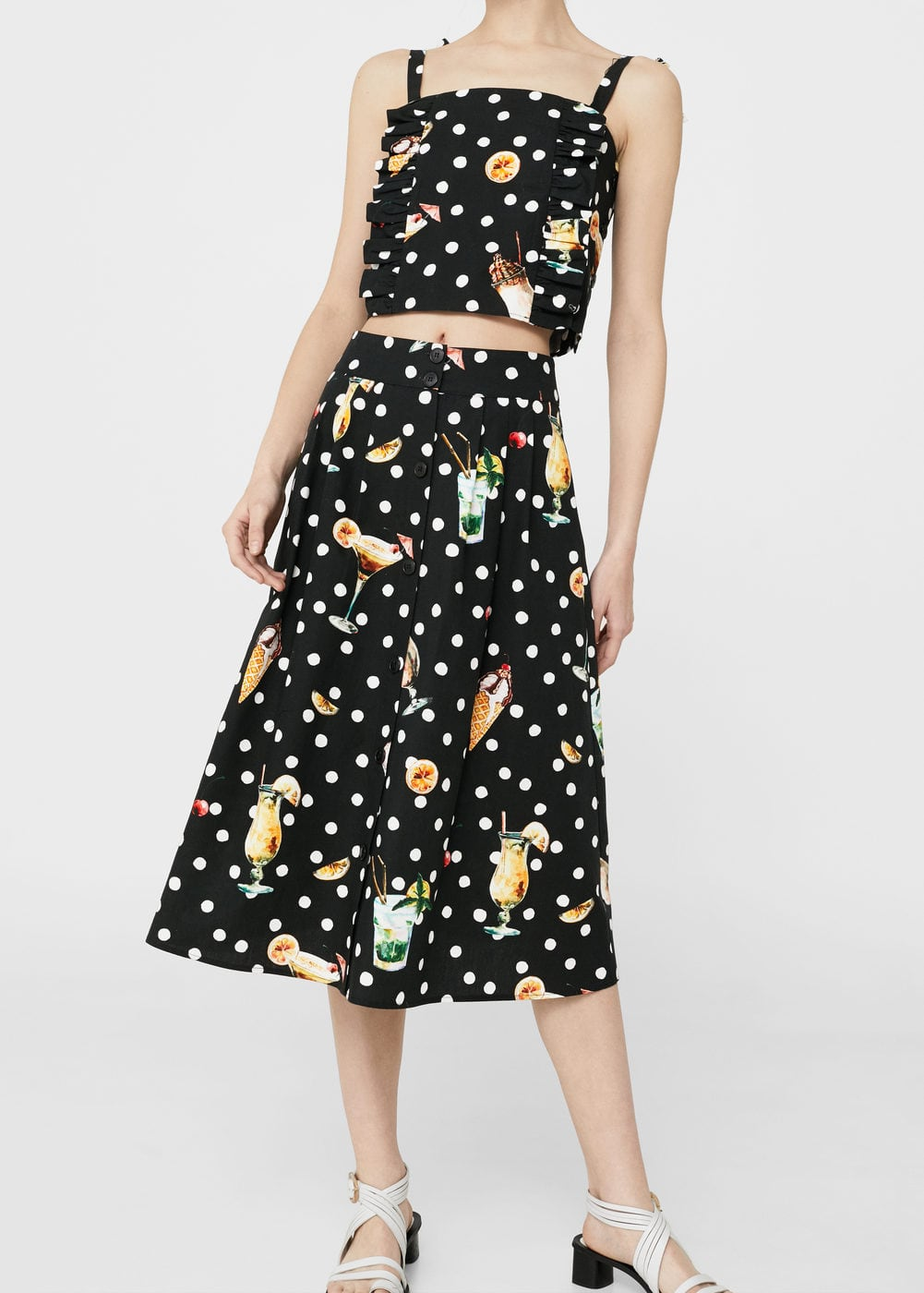 Printed midi skirt | MNG