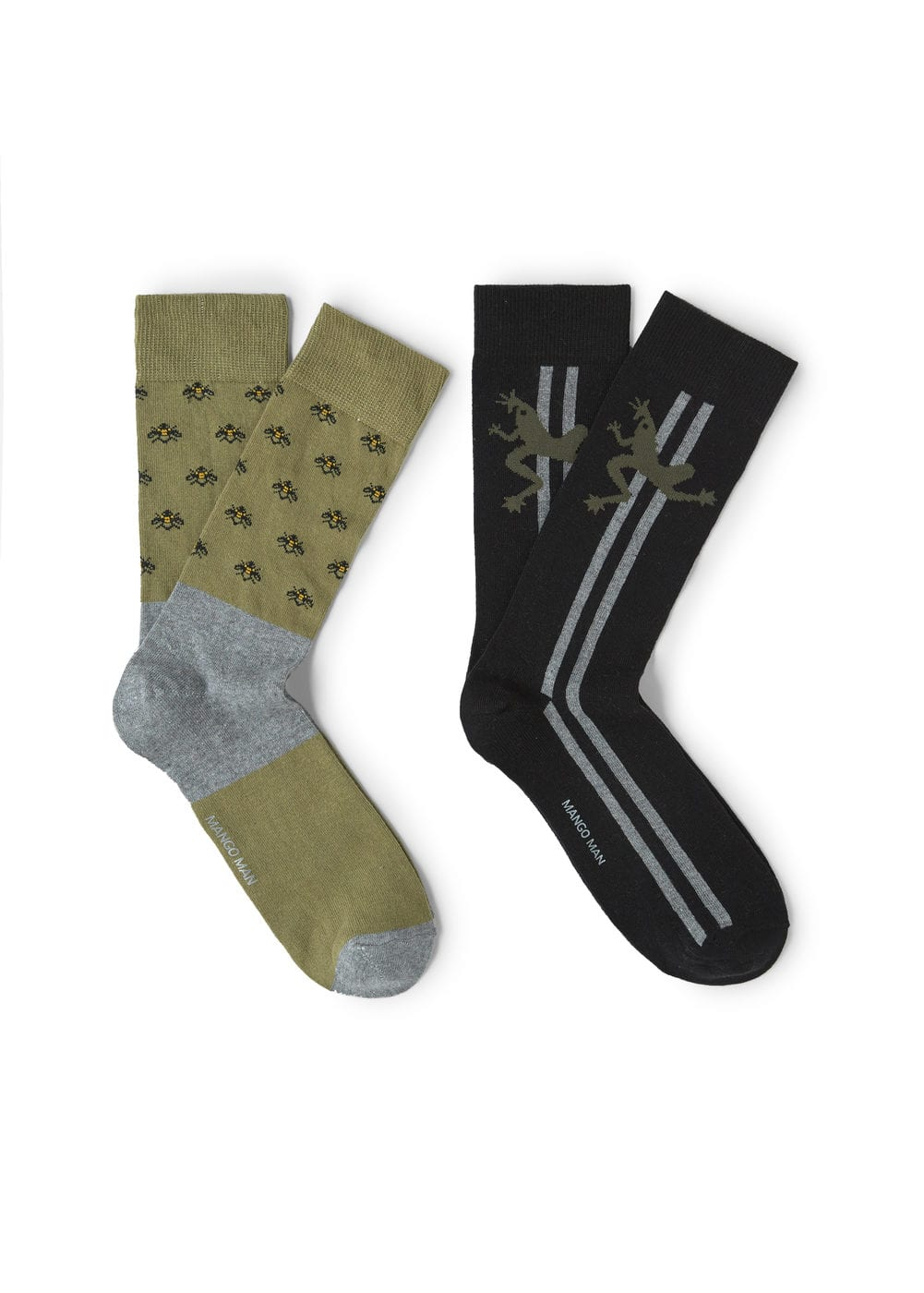 2 pack animal print socks | MANGO MAN