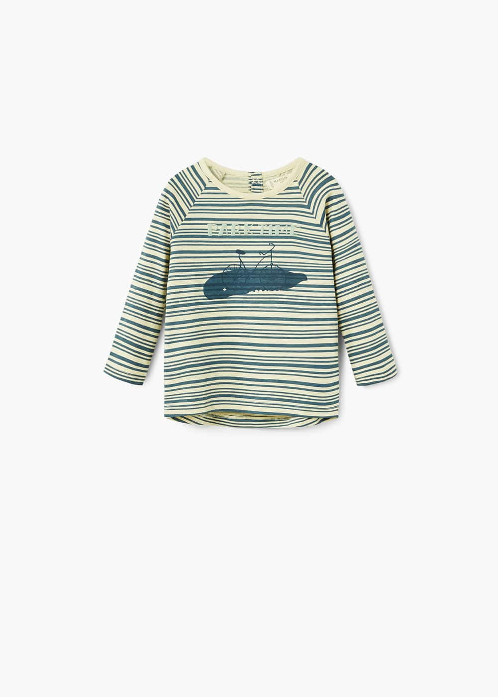 Striped cotton t-shirt | MANGO