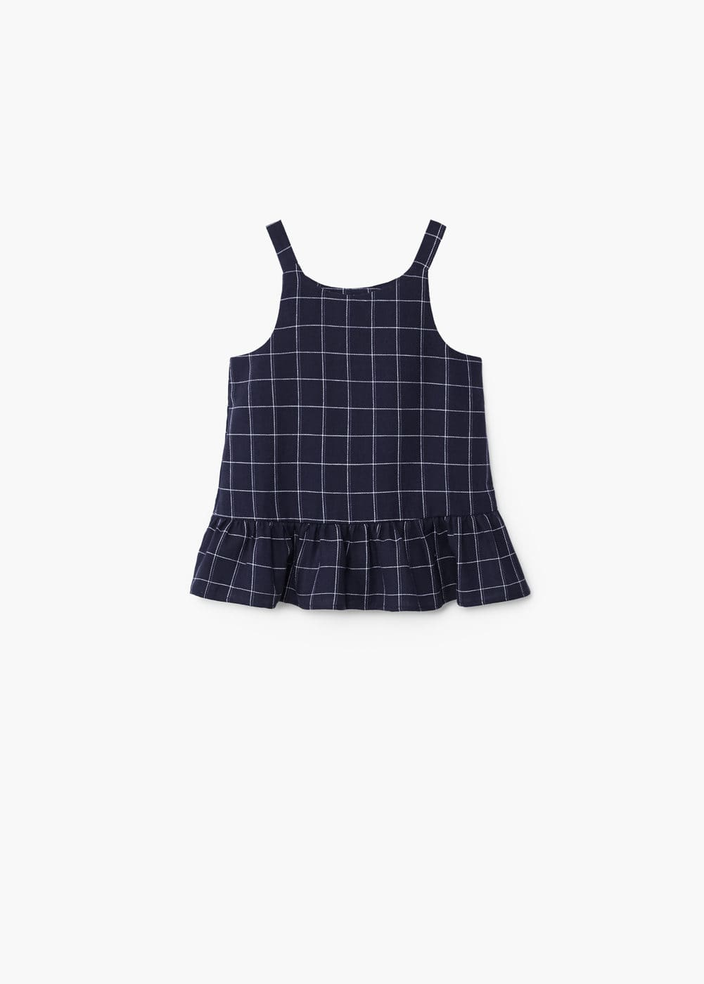 Ruffled squares top | MANGO