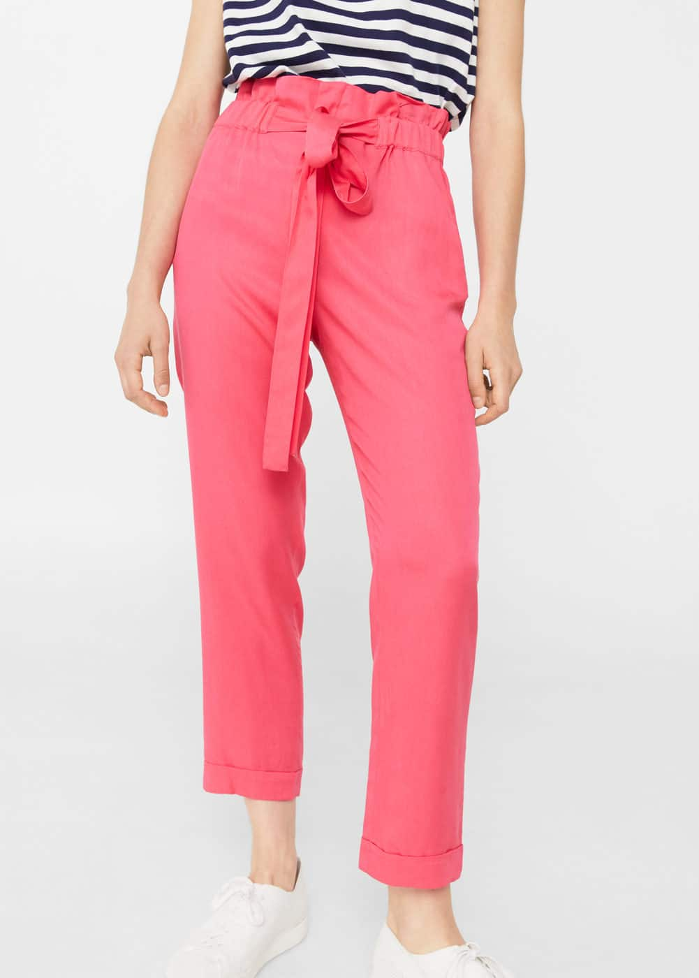 Adjustable waist trousers | MANGO