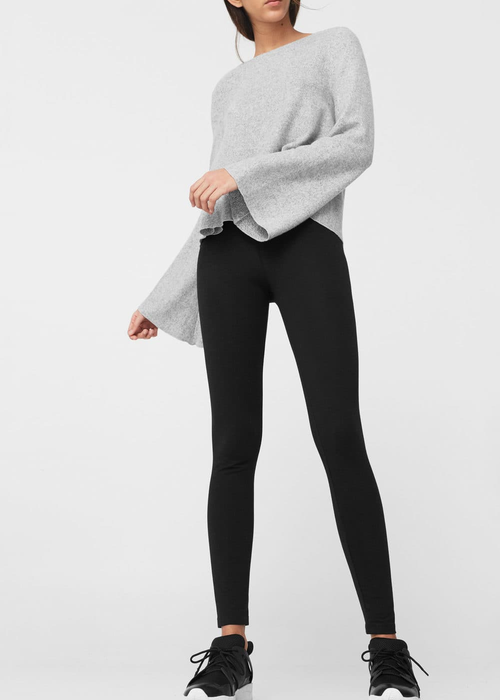 Essential cotton leggings | MANGO