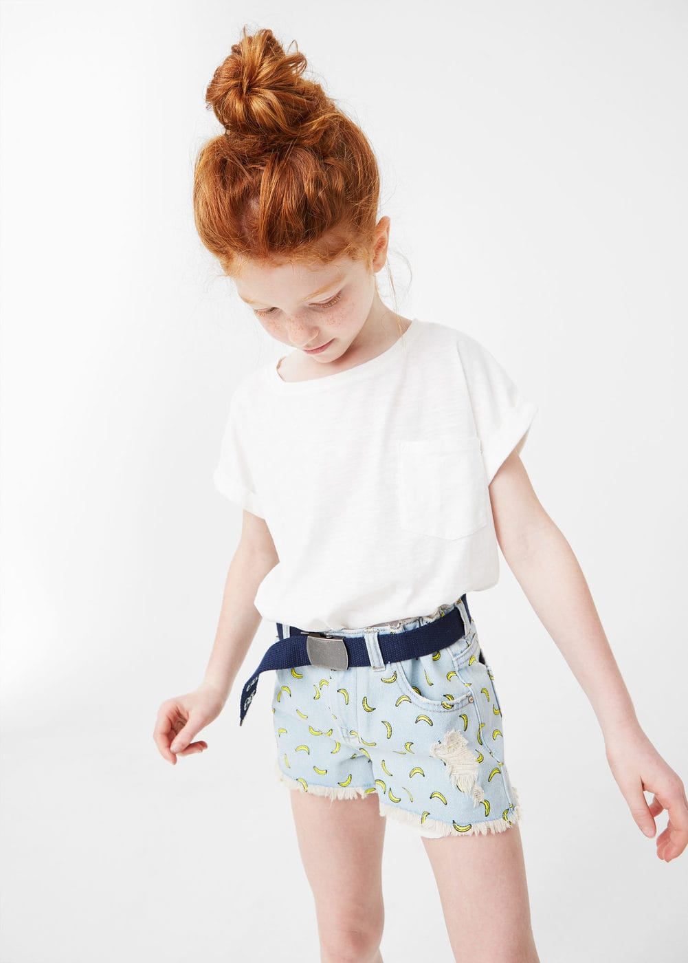 Short denim estampado | MANGO KIDS