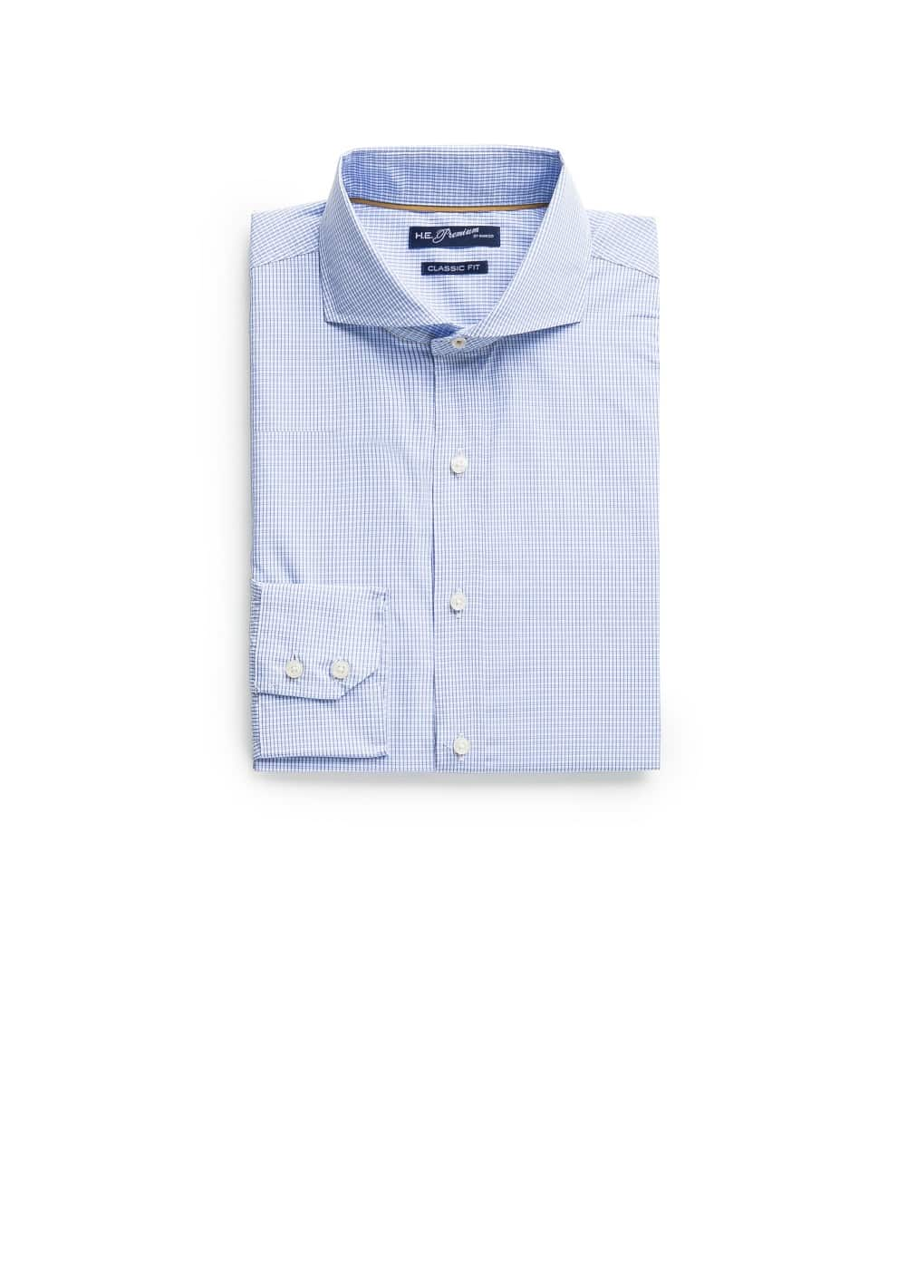 Straight-fit premium check shirt | MANGO
