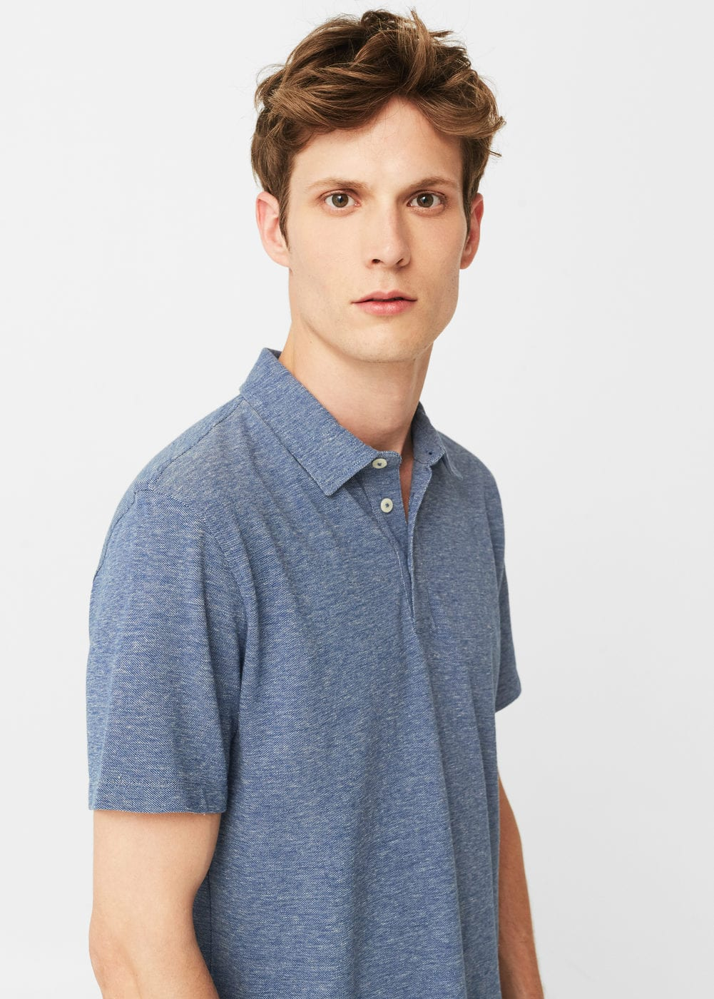 Slim-fit cotton polo shirt | MANGO MAN