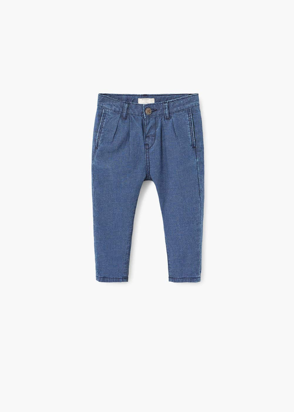 Check baggy trousers | MANGO