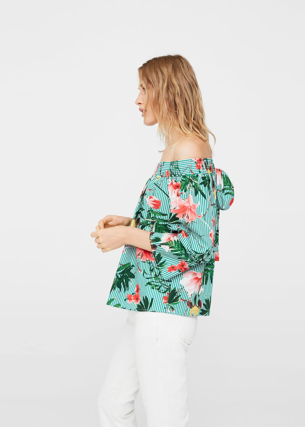 Tropical print blouse | MANGO