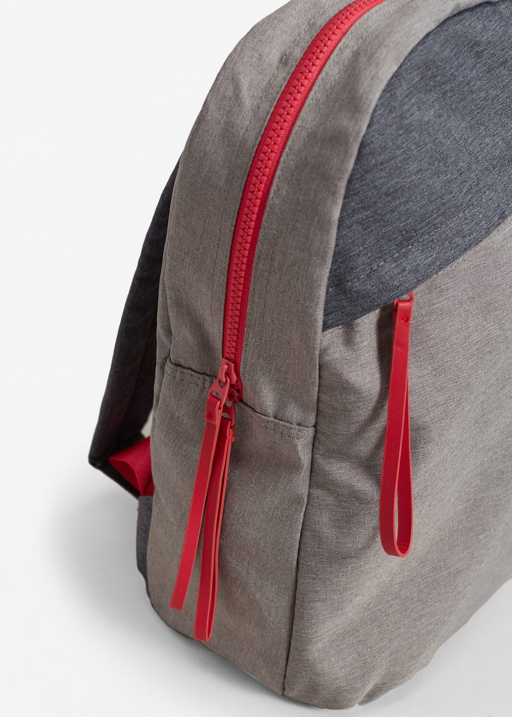 Contrast canvas backpack | MANGO
