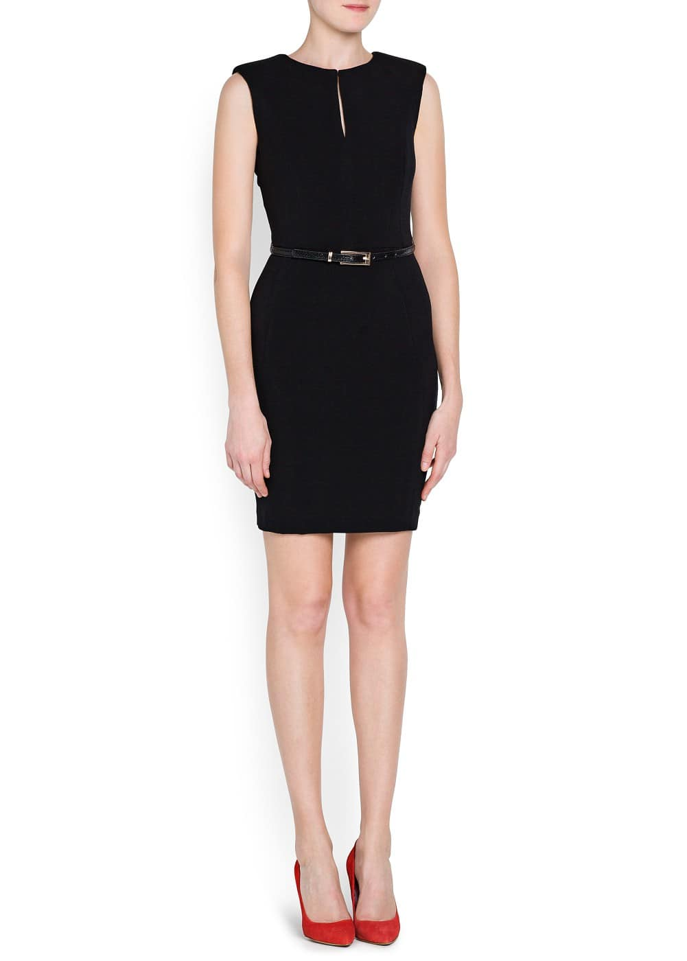 Snake belt pencil dress | MANGO