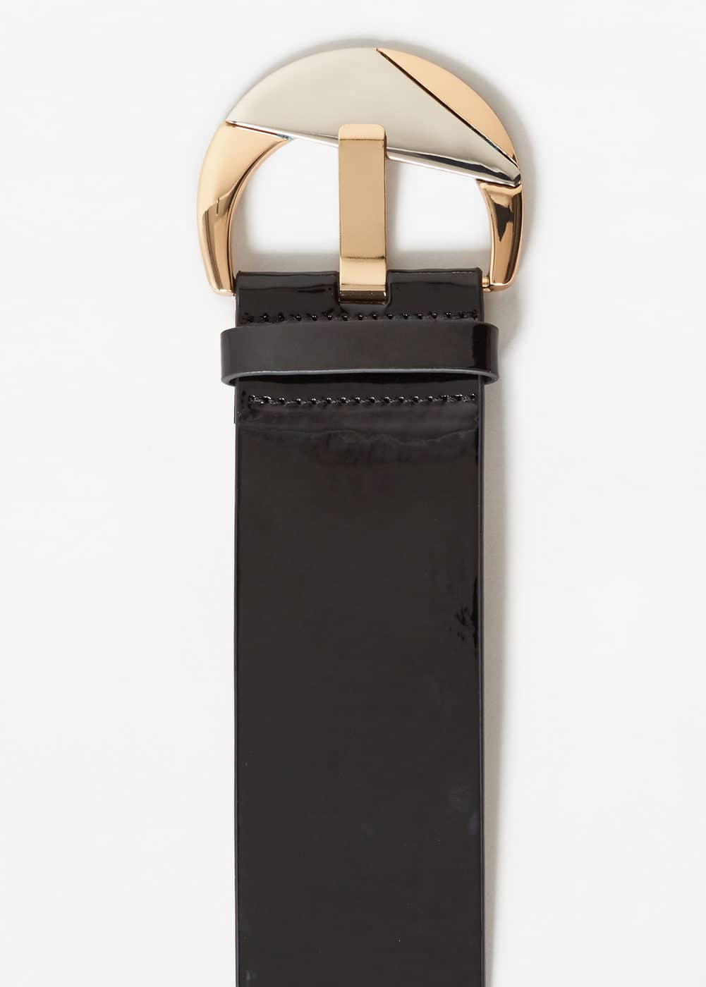Patent leather sash belt | MANGO