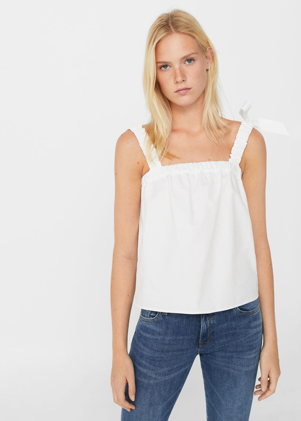 Bow strap top | MANGO