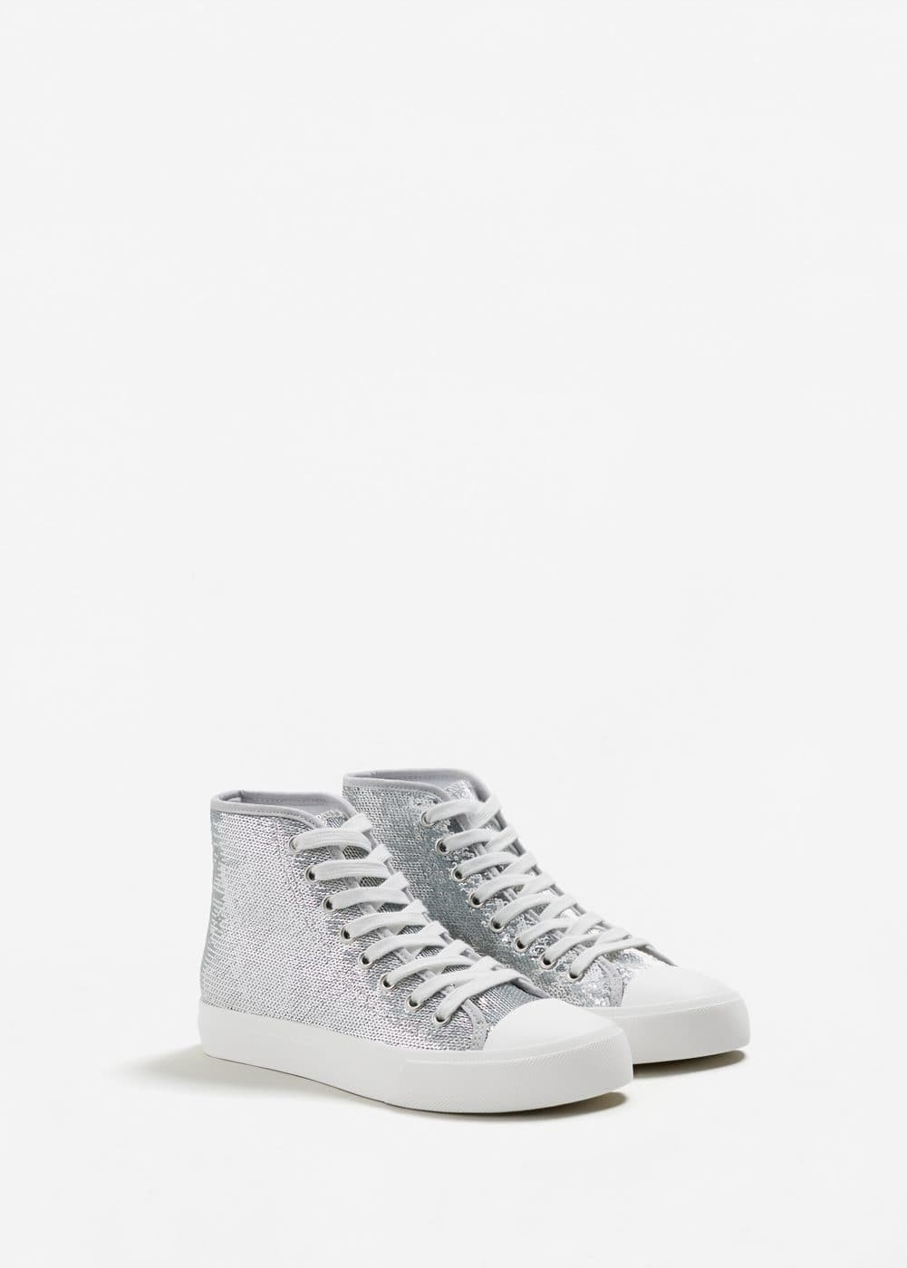 Metallic sequins sneakers | MANGO