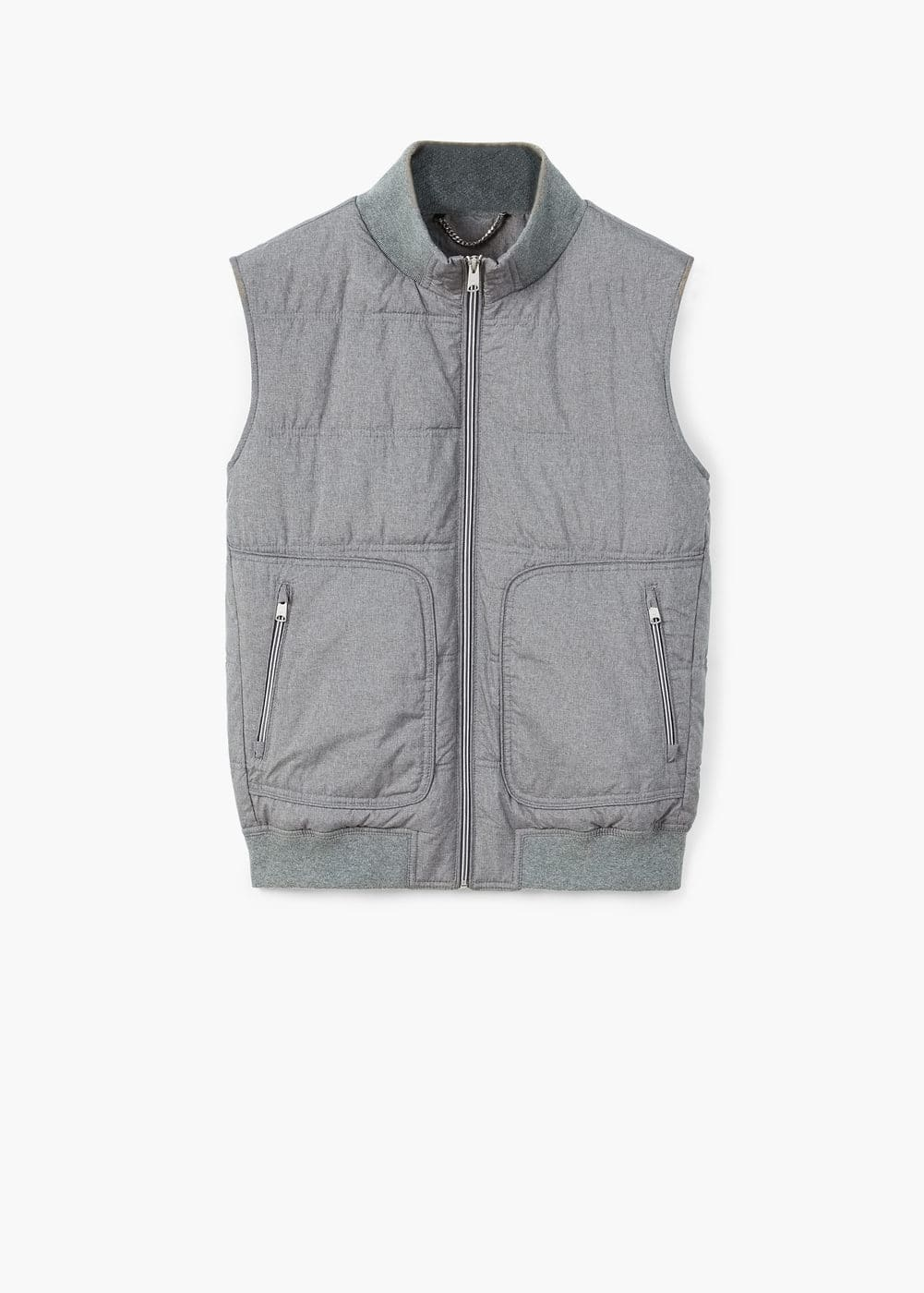 Pocketed quilted gilet | MANGO