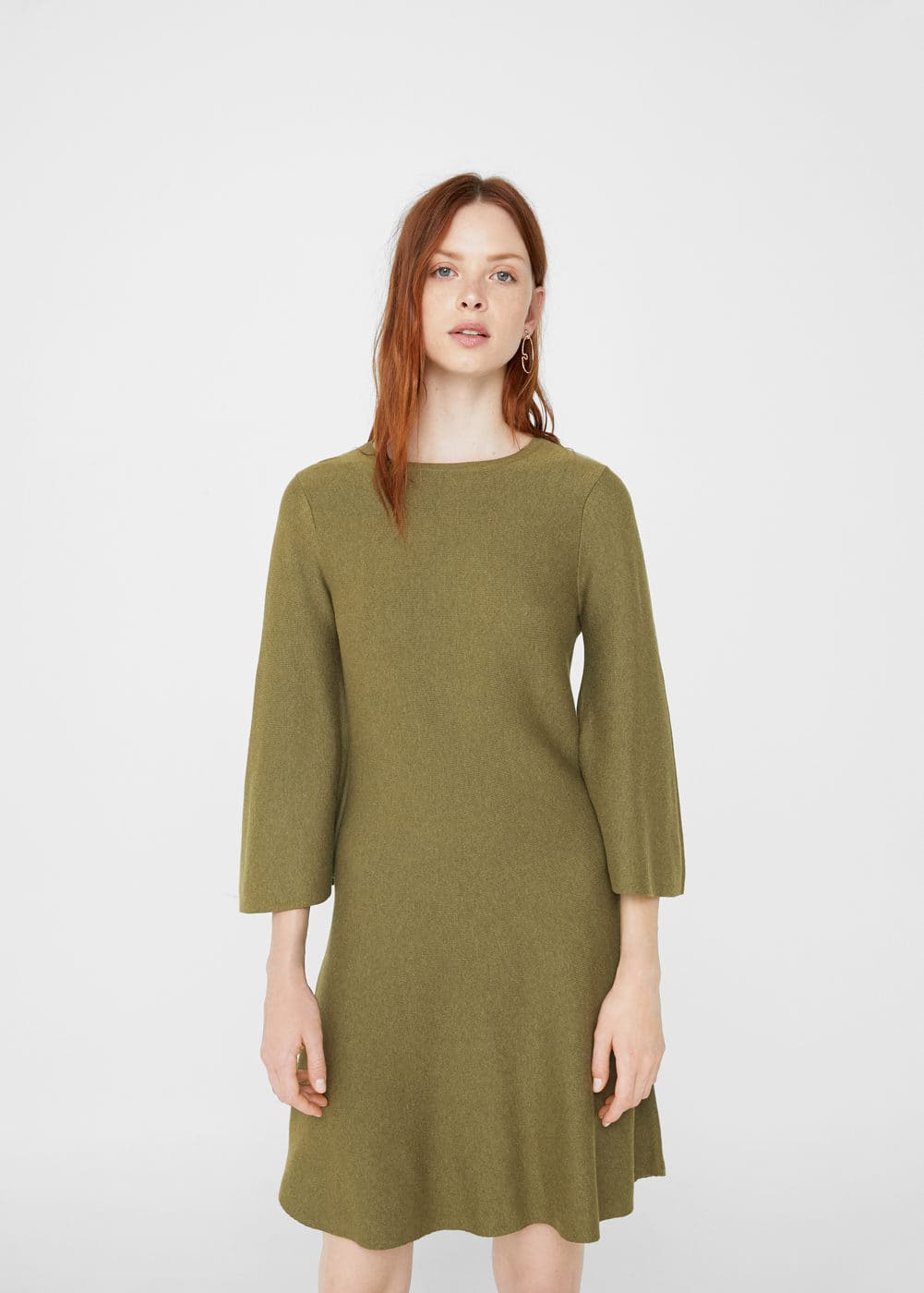 Flared sleeves dress | MNG