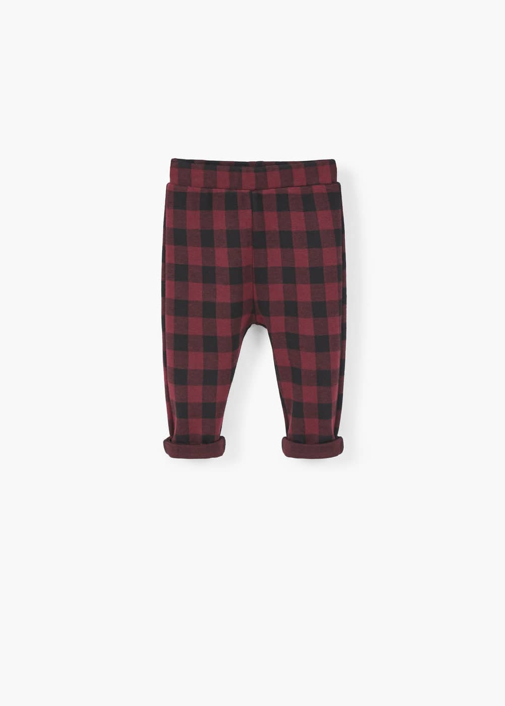 Check baggy trousers | MANGO KIDS