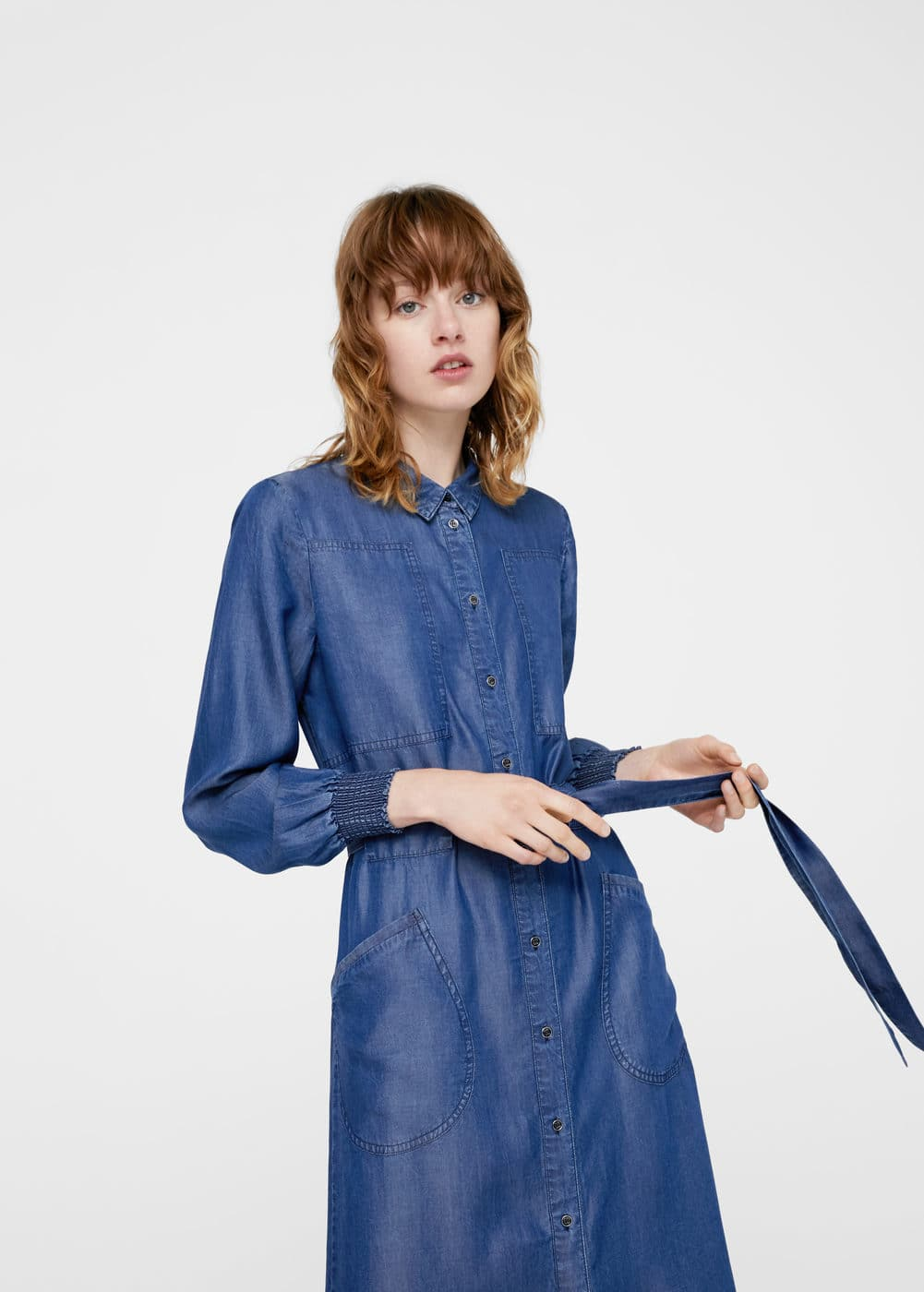 Vestido largo denim | MNG