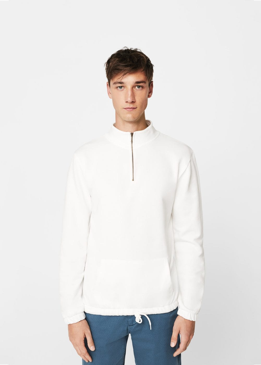 Pocket cotton sweatshirt | MANGO