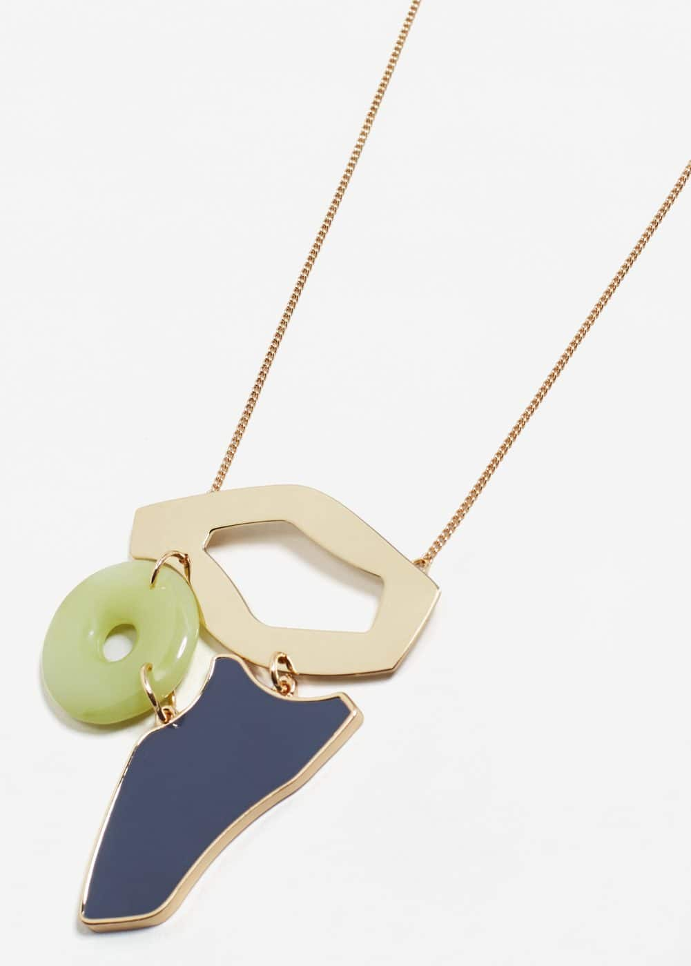 Geometric pendant necklace | MANGO