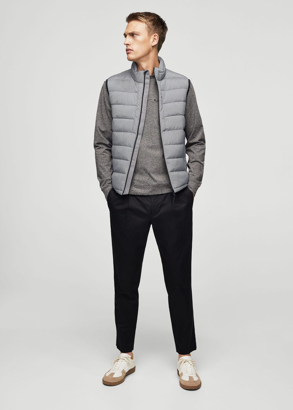 Quilted lightweight nylon gilet | MANGO