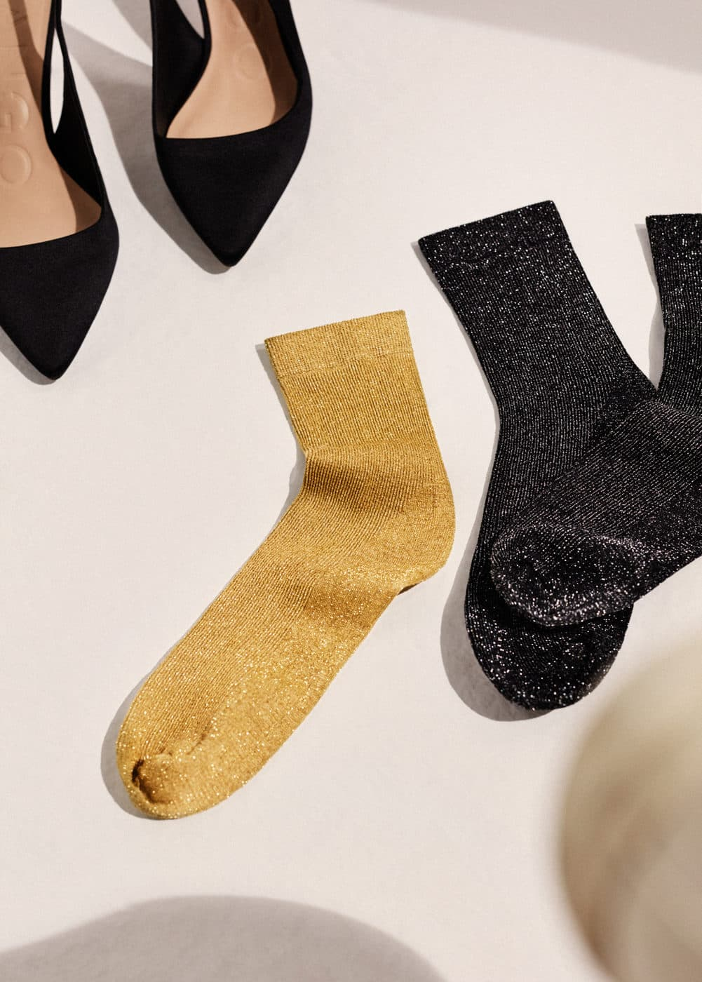 Metallic ankle socks pack | MANGO