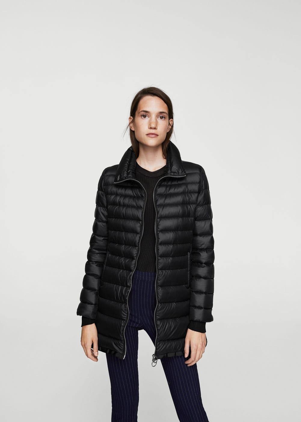 Water-repellent feather coat | MANGO