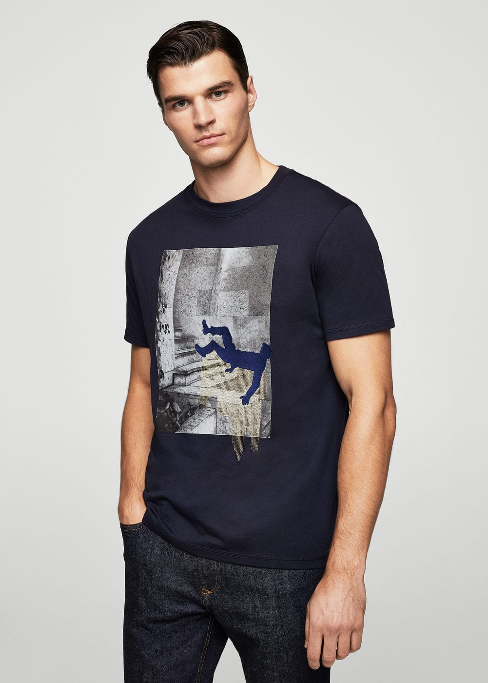 Printed picture cotton t-shirt | MANGO