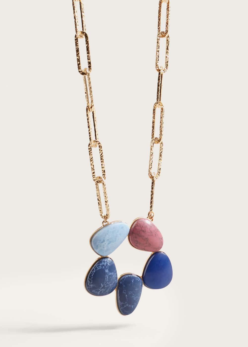 Stone chain necklace | MANGO