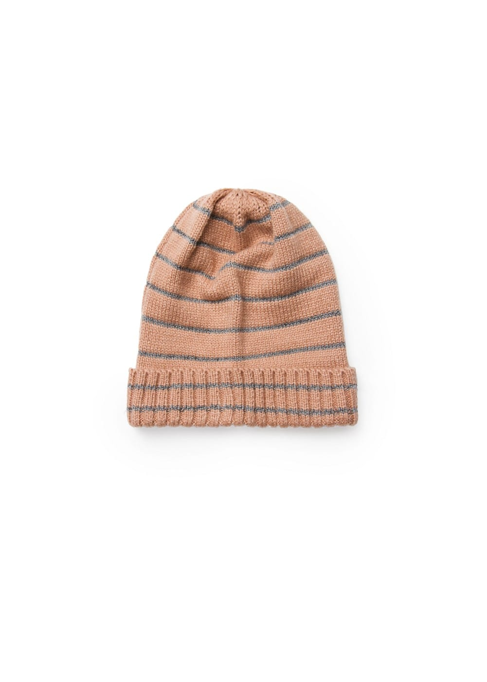 Metallic striped knit hat | MANGO KIDS