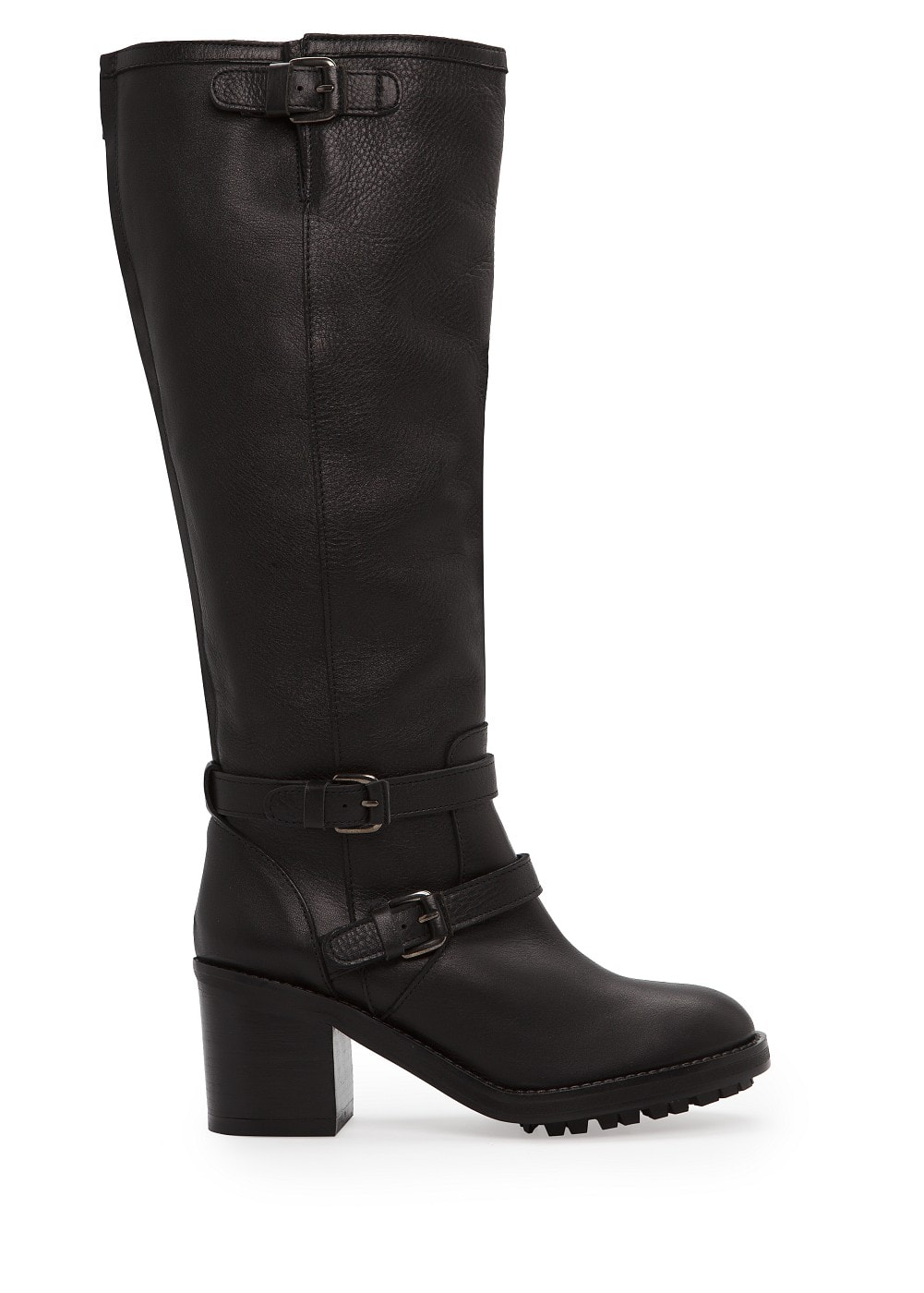Buckle leather knee boots | MANGO