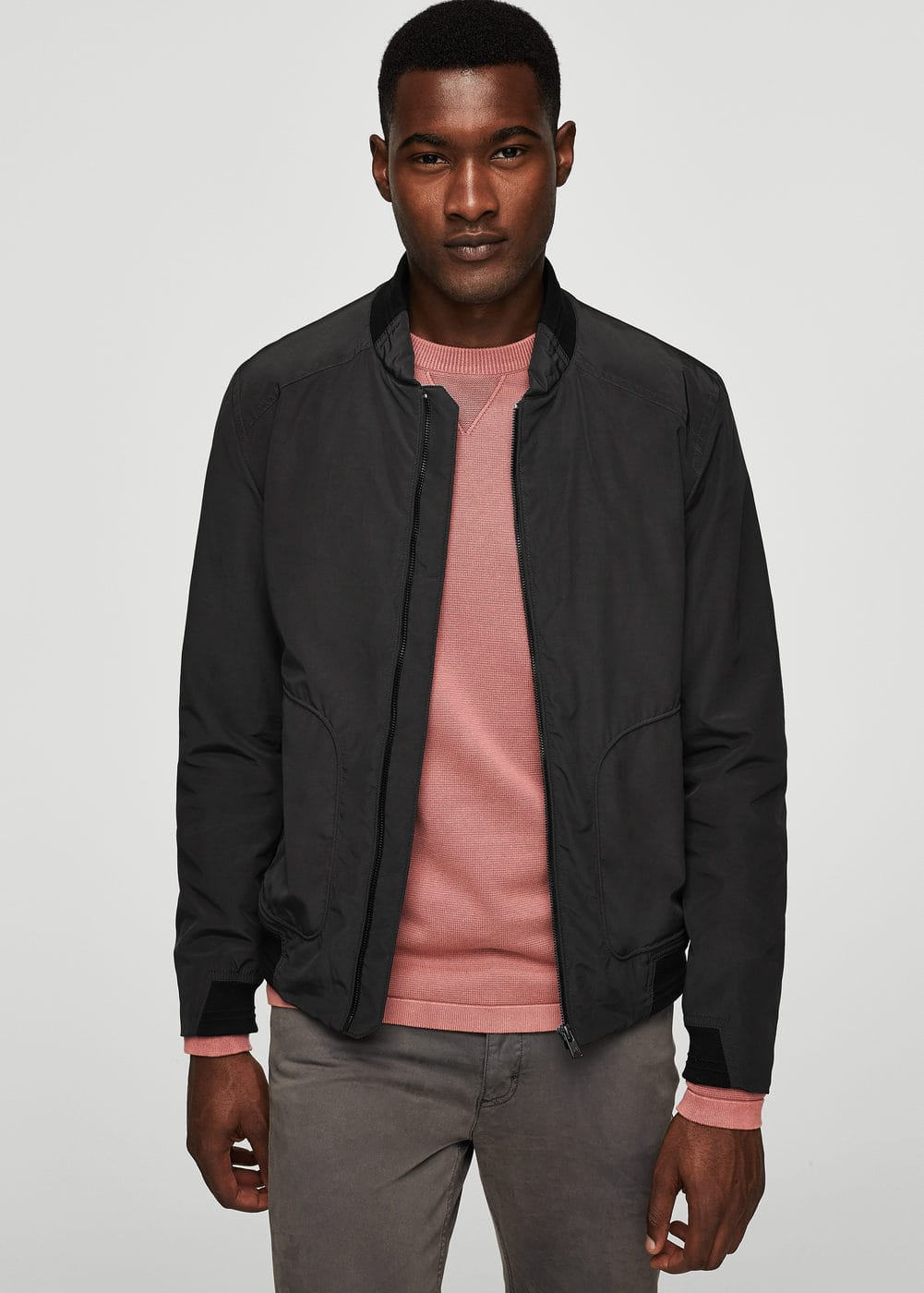 Folding water-repellent bomber jacket | MANGO MAN