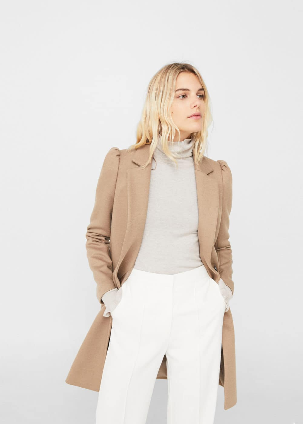 Puffed sleeves coat | MANGO