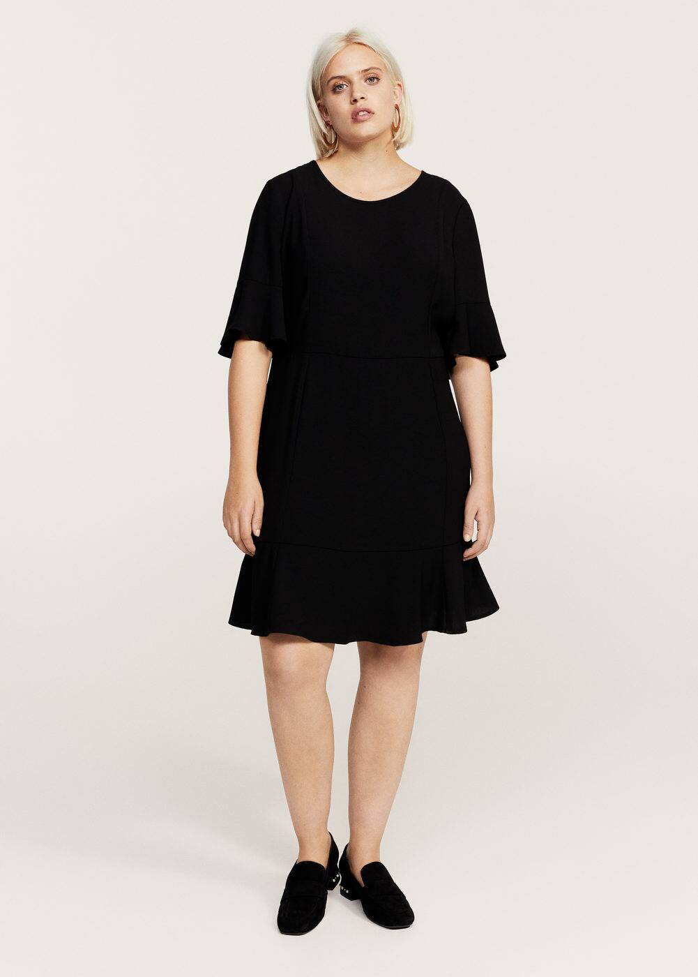 Ruffled sleeve dress | VIOLETA BY MANGO