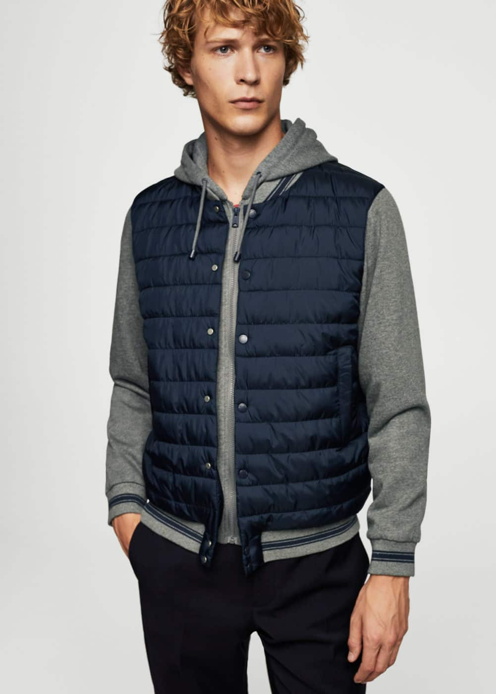 Mixed quilted jacket | MANGO