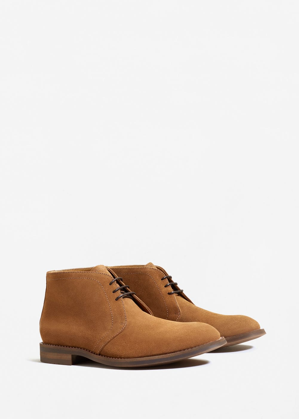 Lace-up suede ankle boots | MANGO MAN