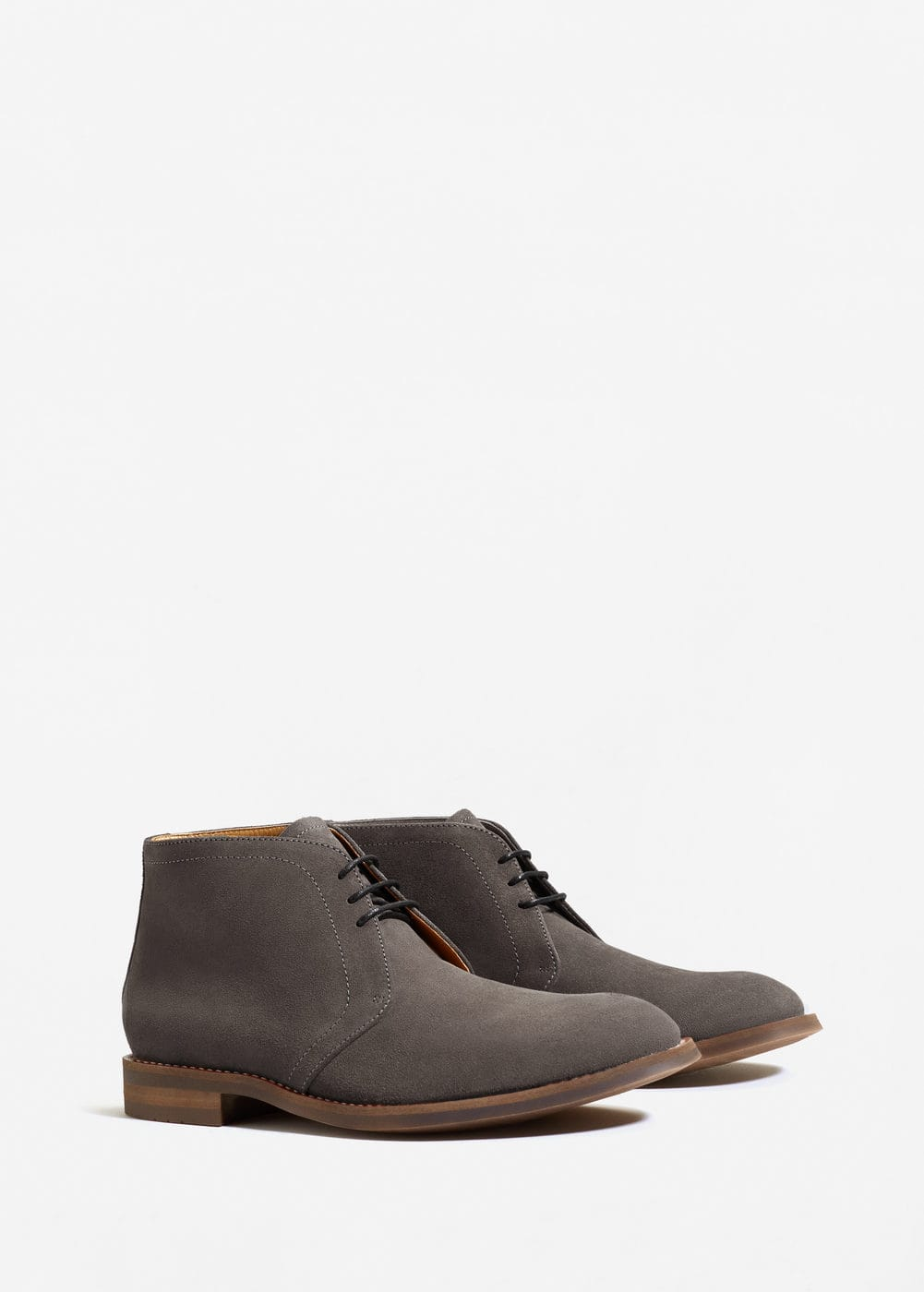 Lace-up suede ankle boots | MANGO