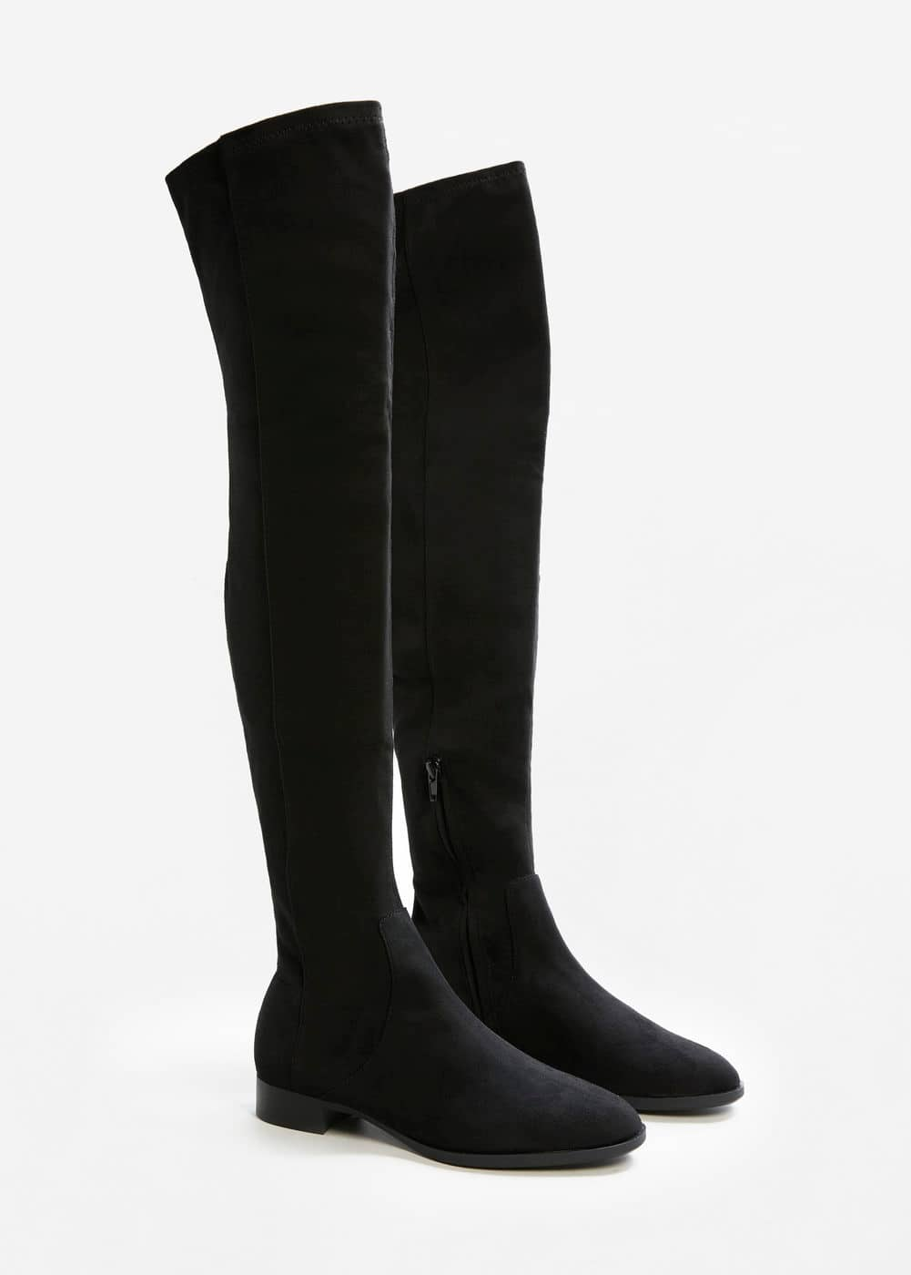 Flat over-the-knee boots | MANGO
