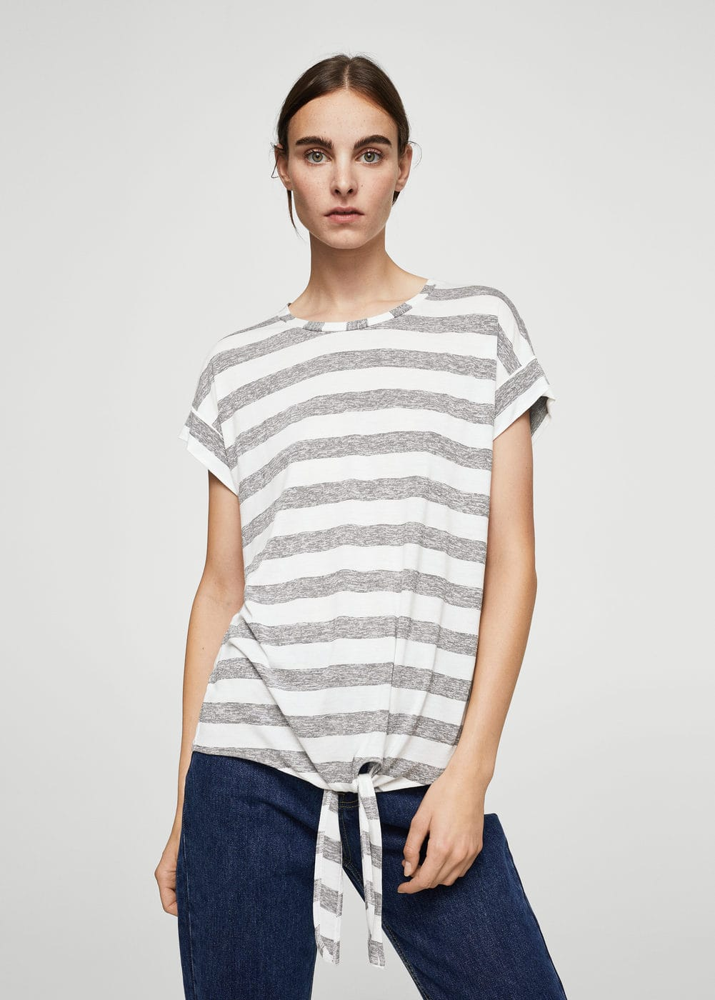 Knot striped t-shirt | MANGO