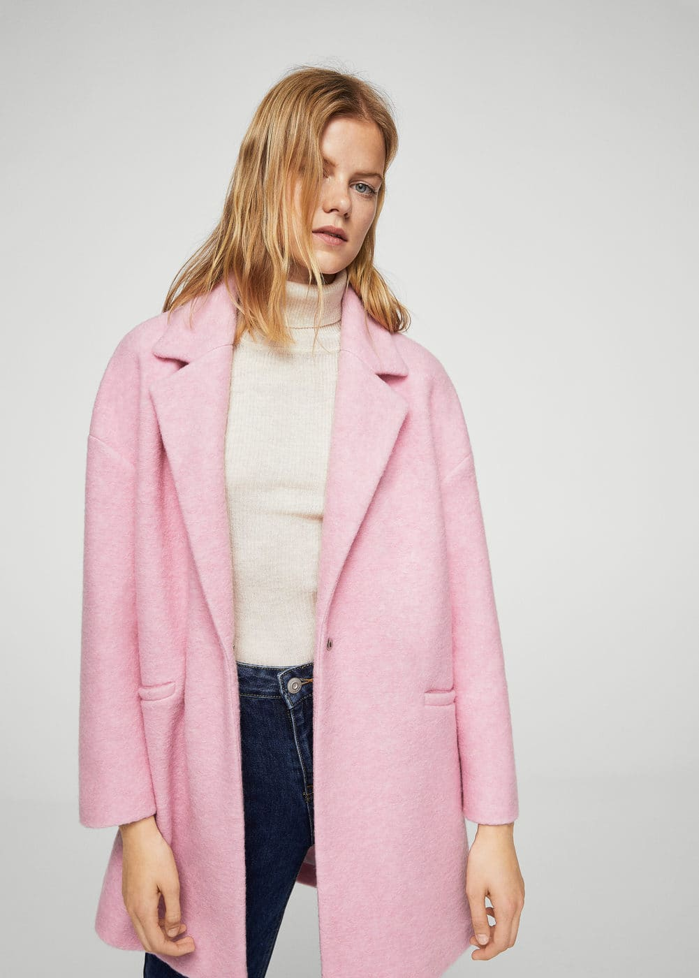 Unstructured wool-blend coat | MANGO