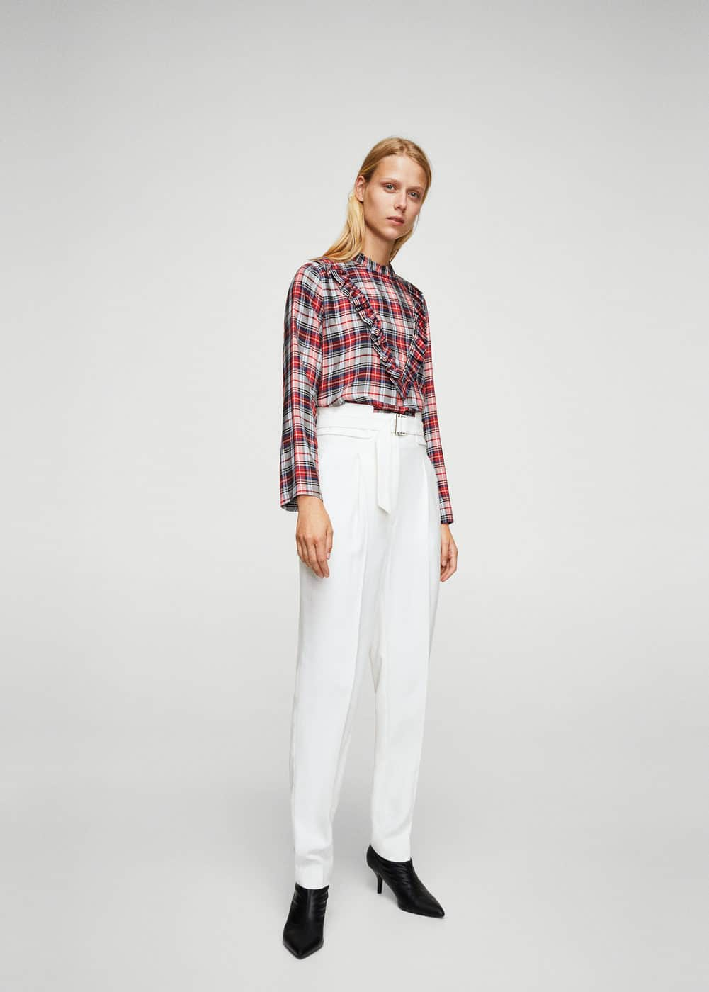 Plaid blouse | MANGO